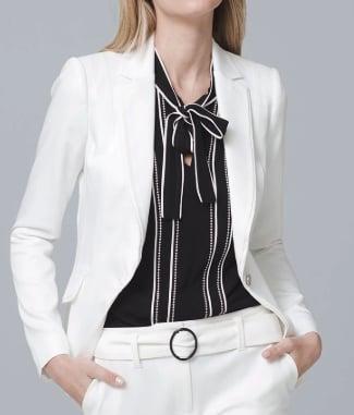 Single Button Blazer Jacket