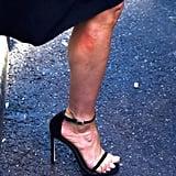Shop Jen's exact Stuart Weitzman heels online for $398.