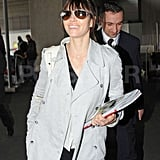 Jessica Biel showed off her engagement ring as she carried magazines through Charles de Gaulle airport in Paris.