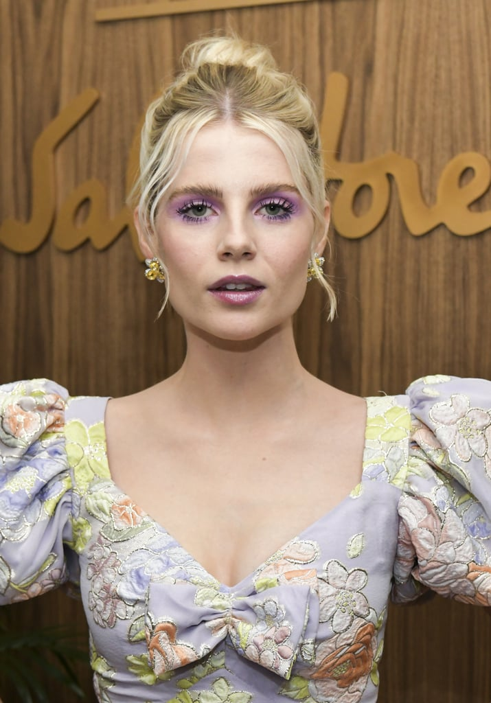 Lucy Boynton's Parma Violet Purple Makeup, 2019