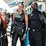 Black Widow, Valkyrie, and Nick Fury from the MCU