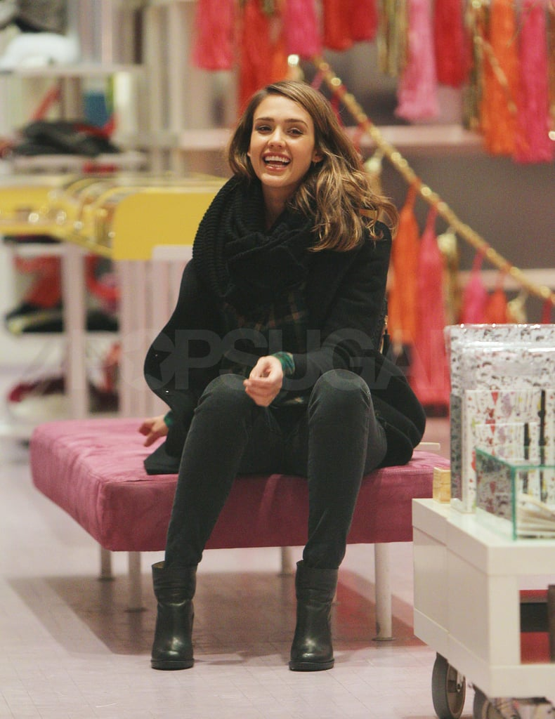 Jessica Alba, and best friend Kelly Sawyer, stopped by NYC's Kirna Zabete boutique yesterday for some light holiday shopping. Inside the store Jessica tried on a pair of boots and browsed through the jewelry case. Jessica and Kelly arrived in the Big Apple on Tuesday prior to her participation in yesterday's Charity Day held in Jersey City, NJ. She answered telephones at ICAP's North American headquarters to raise donations for an organization near and dear to her, Baby2Baby. It's Jessica's second event for the children's charity in less than a month after she joined Jennifer Hudson at Rodeo Drive's Swarovski Elements lighting ceremony in late November. Following their philanthropic duties the gals headed back to Manhattan where Kelly and Jessica grabbed a quick dinner at SoHo's Cafe Habana before catching a returning flight to LA.