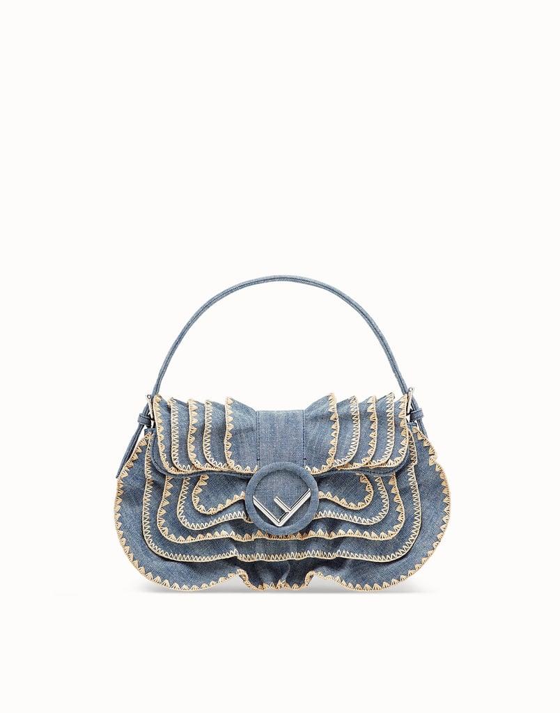 9abc550a2a49 Fendi Baguette Blue Denim Bag
