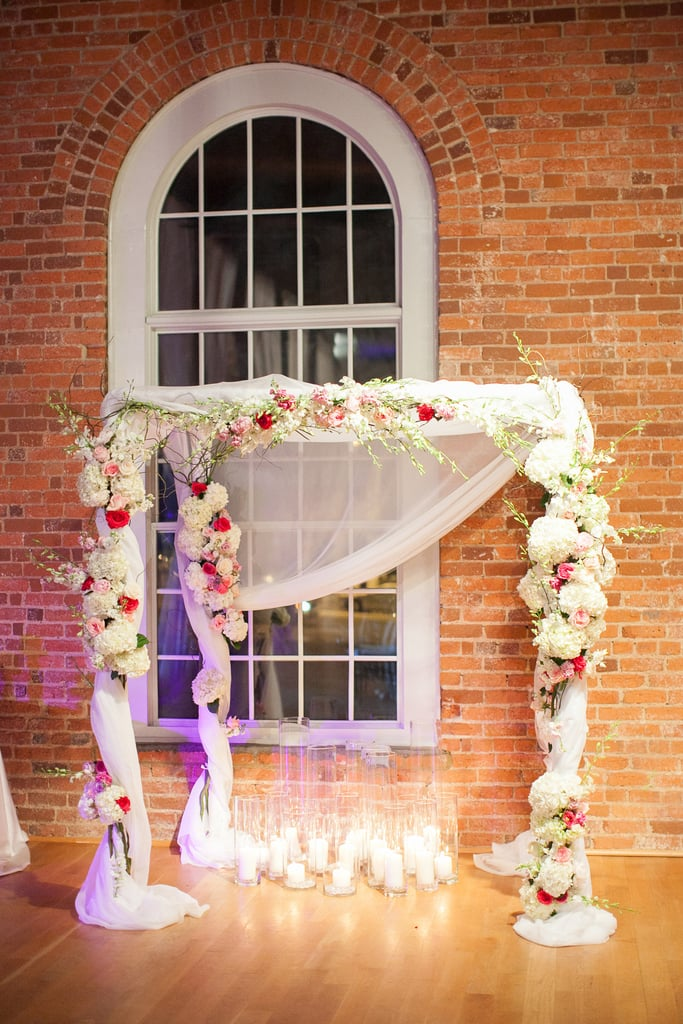 No one will look away from a floral arch.