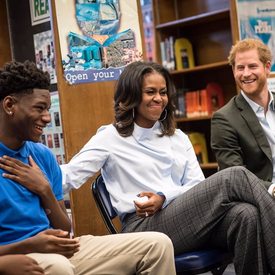 Prince Harry and Michelle Obama Visiting Chicago Oct. 2017
