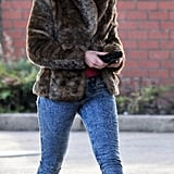 Scarlett Johansson arrived on the Glasgow set of her latest film, Under the Skin.
