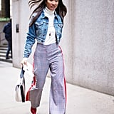 Sporty Plaid Trousers