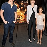 Jennifer Lawrence was joined by The Hungers Games tributes Amandla Stenberg and Alexander Ludwig.