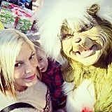 Tori Spelling and her family posed with the one and only Grinch.