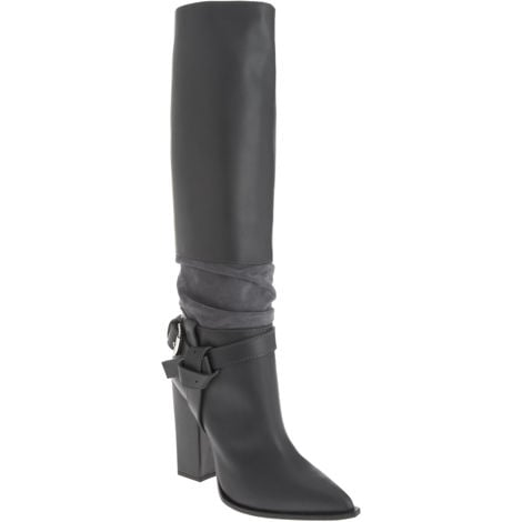 Spotted on fashionistas throughout Fashion Week, this Thakoon boot is well-loved. The knotted strap, alternating textures, and chic gray color make it a Winter necessity. Thakoon Knotted Strap Knee Boot ($519, originally $1,295)