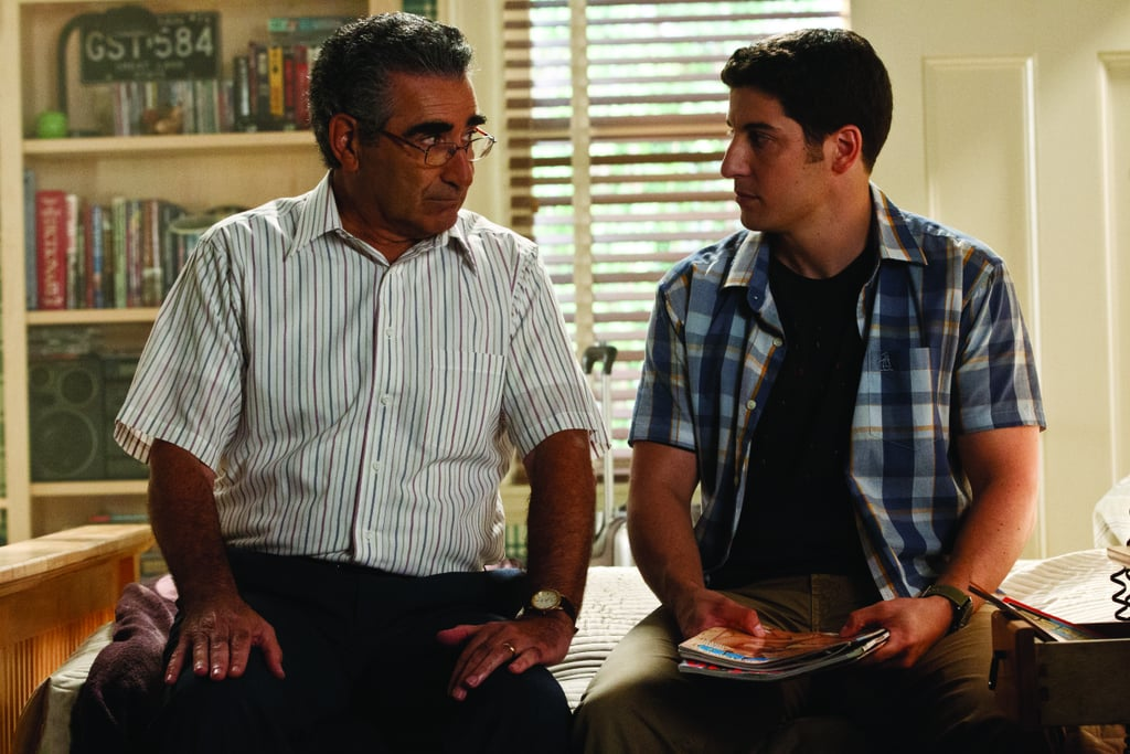 Eugene Levy as Jim's dad and Jason Biggs as Jim in American Reunion.  Photo courtesy of Universal Pictures