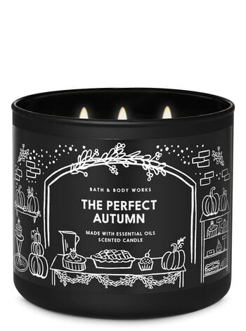 Bath & Body Works The Perfect Autumn 3-Wick Candle