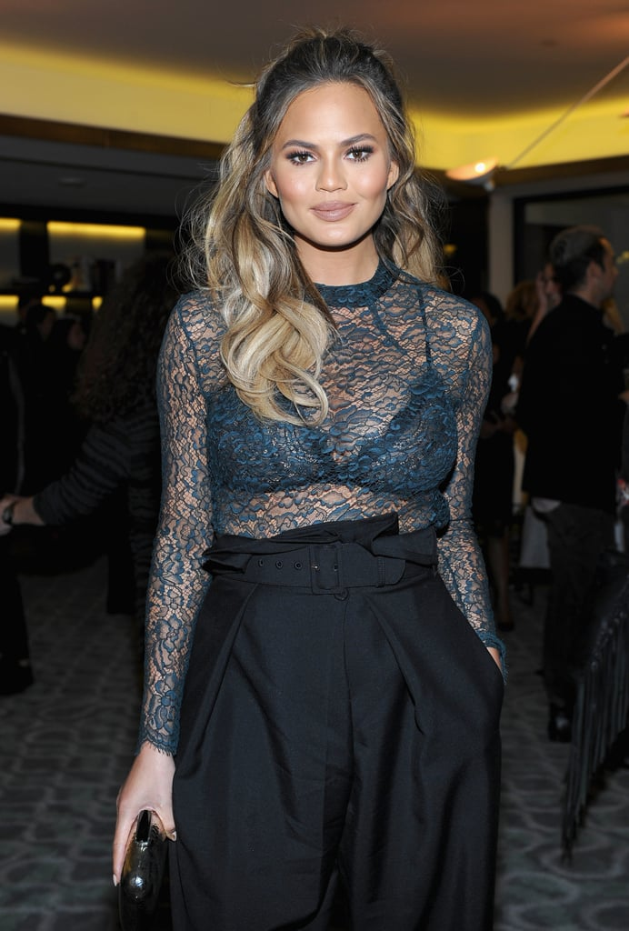 Chrissy Teigen's High-Waisted Pants
