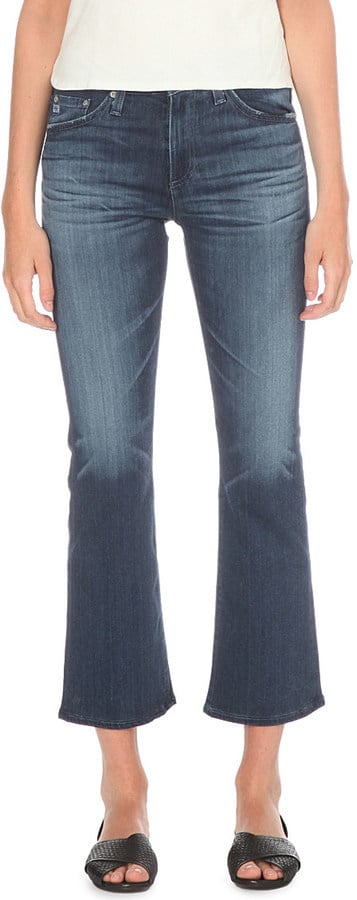 AG Jeans 'Jodie' Crop Slim-Fit Flared Jeans ($250)