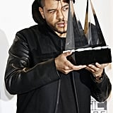 The Weeknd posed with his awards in 2015.