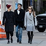 Jessica Biel got together with friends in NYC.