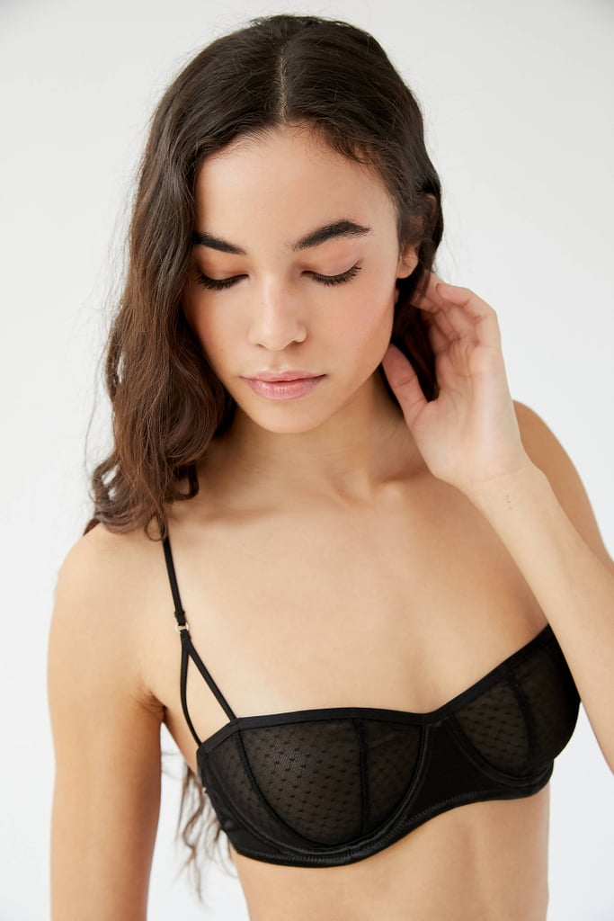 Out From Under Carly Dot Mesh Balconette Bra