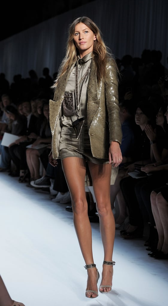 Gisele Bundchen takes to the runway for Paris Fashion Week.