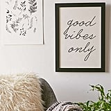 Urban Outfitters Honeymoon Hotel Good Vibes Only Art Print