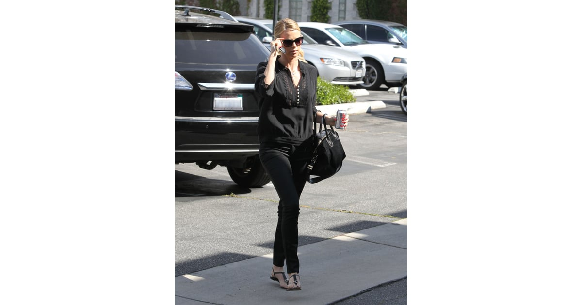 For a day out in LA, Charlize kept it casual and chi with ...