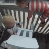 Toddler Helps His Baby Brother Out of His Crib
