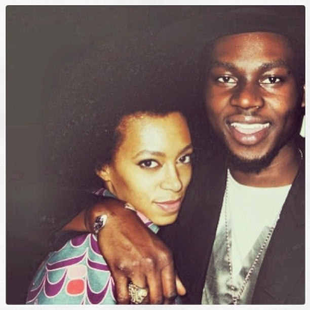 Solange Knowles partied in Paris with Theophilus London. Source: Twitter user TheophilusL