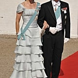Mary and Frederik at the wedding of Fred's brother Prince Joachim in May 2008.