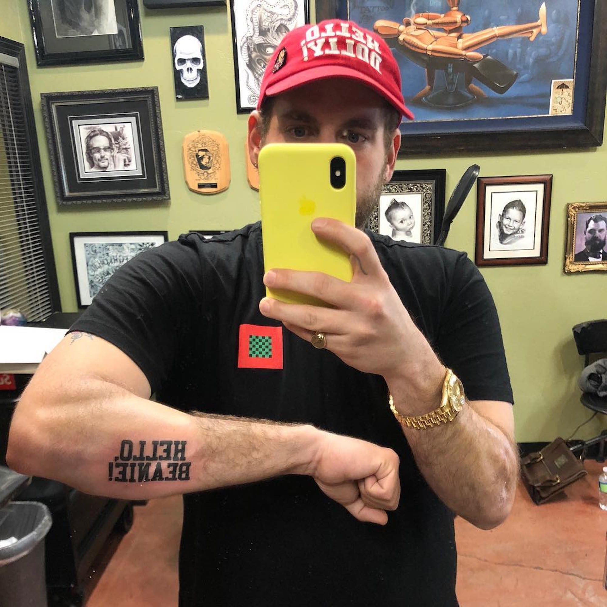 23c121456d2 Jonah Hill s Tattoo of Sister s Name