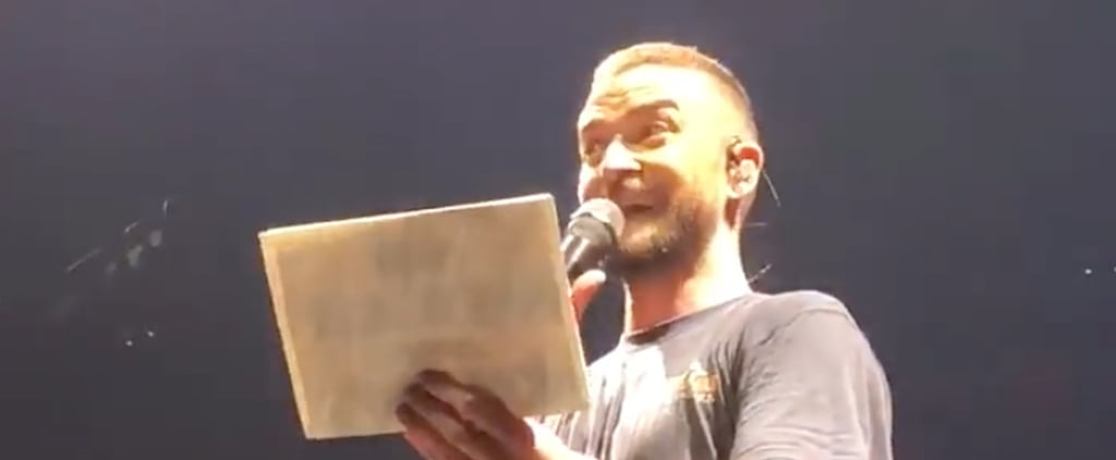Justin Timberlake Announces Pregnancy For Fan at Concert