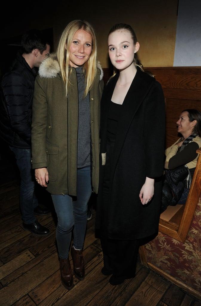 Gwyneth Paltrow and Elle Fanning