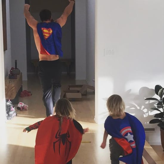 Chris Hemsworth Dressed Up as a Superhero With His Kids 2017