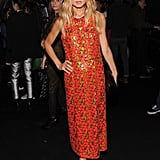 Rachel Zoe stepped out for Marc Jacobs's show in one of the designer's embellished confections.