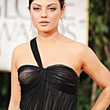 Mila Kunis on the red carpet at the 2012 Golden Globe Awards.