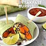 Vegetarian Black Bean Breakfast Burritos