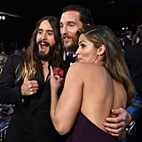 Matthew McConaughey and Camila Alves had a candid moment with Jared Leto.
