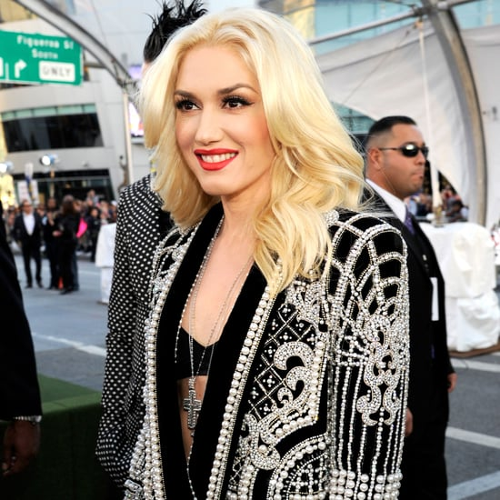Gwen Stefani Hits The American Music Awards Red Carpet