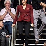 Day 11: Meghan Markle Wearing Scanlan Theodore Jacket and Shaun Leane Earrings