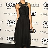 Zoe looked beautiful in this simple Jason Wu dress at the 2012 Audi-hosted Golden Globes kickoff party.