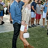 Kate Bosworth and Michael Polish gave each other a sweet look at Coachella in 2015.