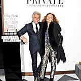 A snakeskin-clad Diane von Furstenberg joined Giancarlo Giammetti at W's book party for Private.