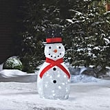 LED Light-Up Yarn Snowman
