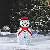 LED Light-Up Yarn Snowman