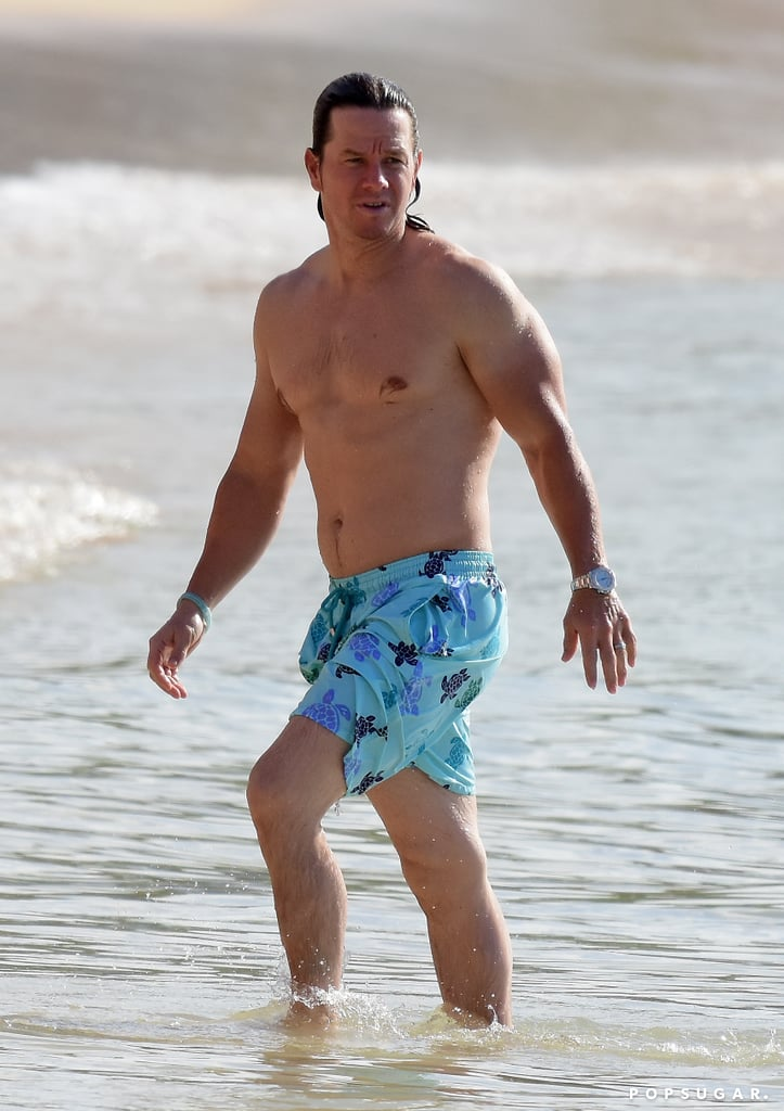 Roberts Auto Group >> Mark Wahlberg Shirtless on the Beach in Barbados 2016 | POPSUGAR Celebrity