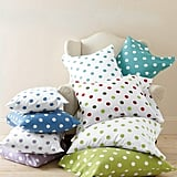 Garnet Hill Dot to Dot Flannel Bedding