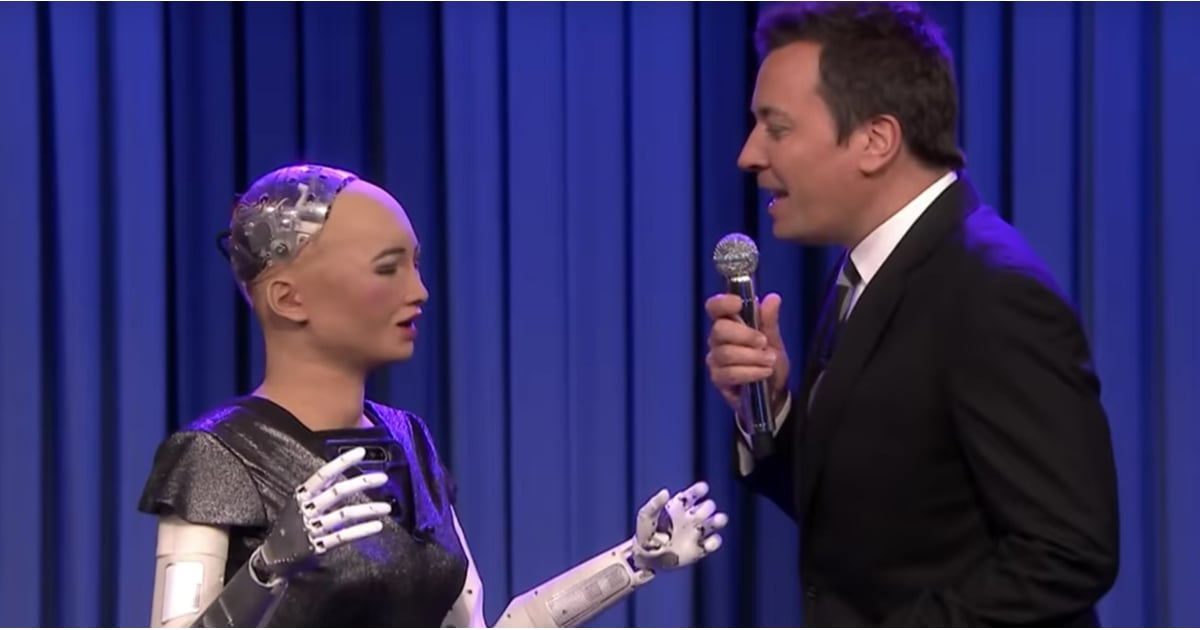 Jimmy Fallon and Sophia the Robot Sing Say Something Video ...