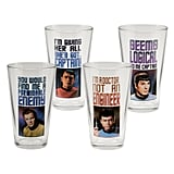 Star Trek 4 pc 16 oz Glass Set, Multicolor
