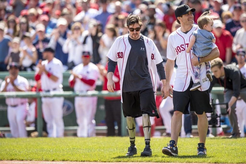 Jake Gyllenhaal at Red Sox Game April 2016