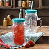 The Pioneer Woman Simple Homemade Goodness 32-Ounce Double-Wall Mason Jar with Lid and Handle, Set of 2 ($19)