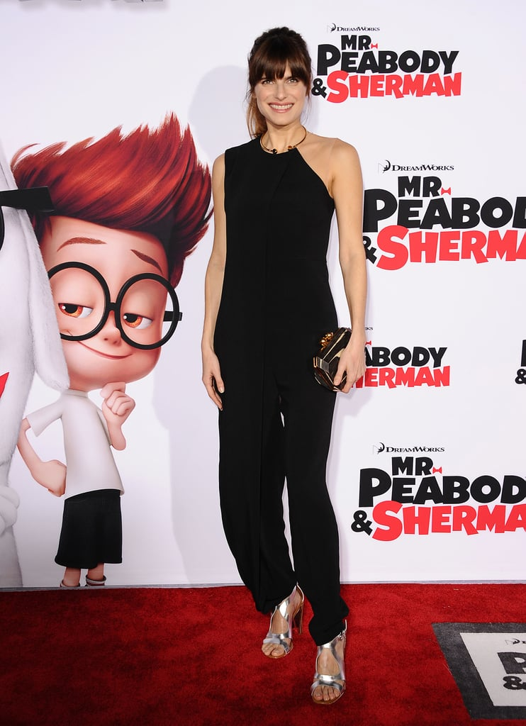 For a film premiere in March, Lake Bell ditched the LBD for a more playful — but equally sexy — black jumpsuit.