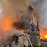 Notre-Dame Cathedral Fire in Paris on April 15, 2019
